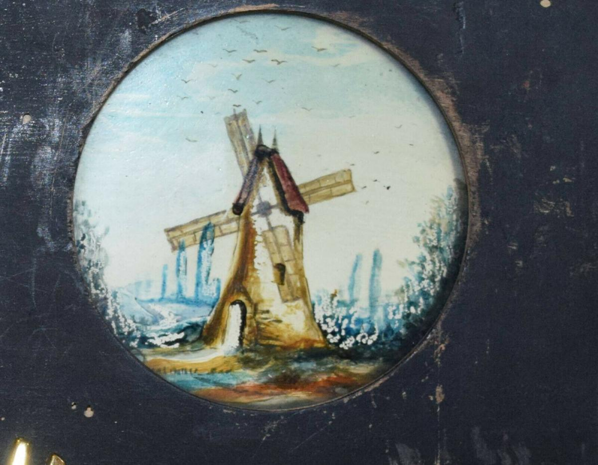 LATERNA MAGICA – GLASDIA WINDMÜHLE UM 1860 DIA GLASDIAS LATERNA MAGICA LEBENSRAD 2