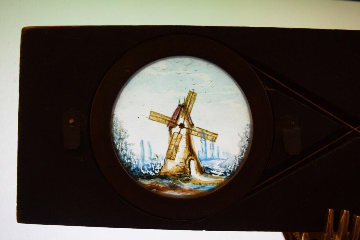 LATERNA MAGICA – GLASDIA WINDMÜHLE UM 1860 DIA GLASDIAS LATERNA MAGICA LEBENSRAD 3