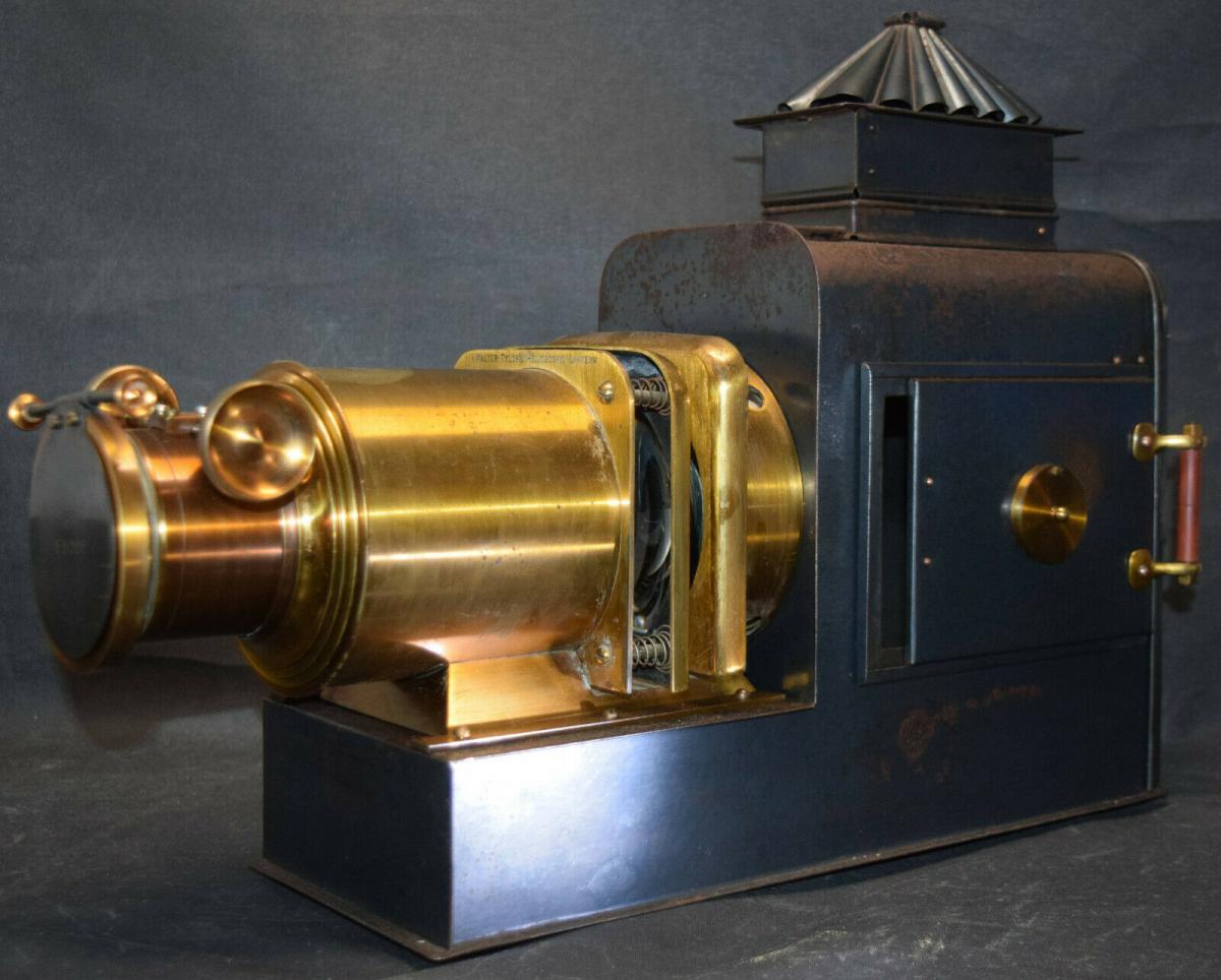 LATERNA MAGICA – HELIOSCOPIC LATERN um 1860 - GLAS-DIAS PROJEKTOR PROJECTOR 0