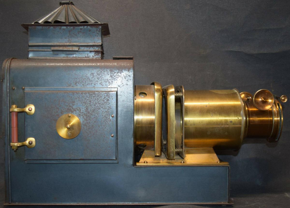 LATERNA MAGICA – HELIOSCOPIC LATERN um 1860 - GLAS-DIAS PROJEKTOR PROJECTOR 1