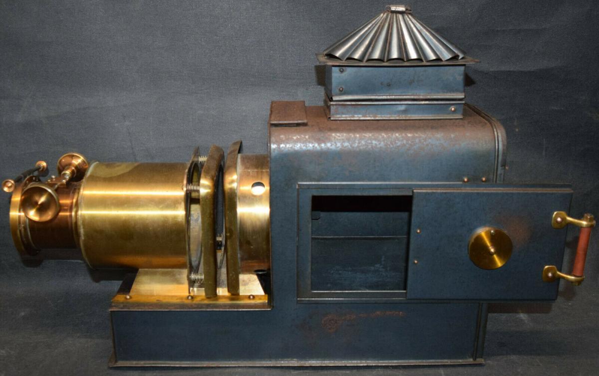 LATERNA MAGICA – HELIOSCOPIC LATERN um 1860 - GLAS-DIAS PROJEKTOR PROJECTOR 2
