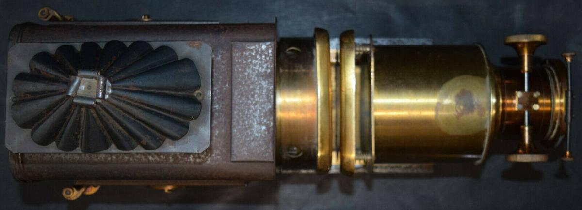 LATERNA MAGICA – HELIOSCOPIC LATERN um 1860 - GLAS-DIAS PROJEKTOR PROJECTOR 4