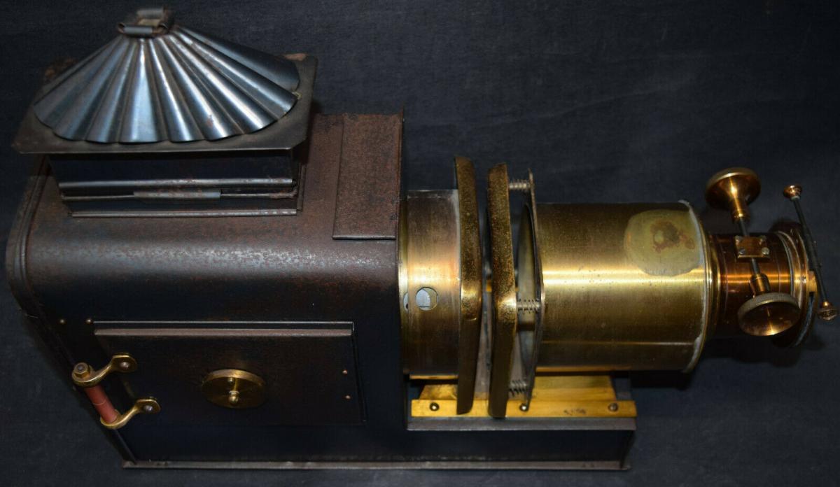 LATERNA MAGICA – HELIOSCOPIC LATERN um 1860 - GLAS-DIAS PROJEKTOR PROJECTOR 5