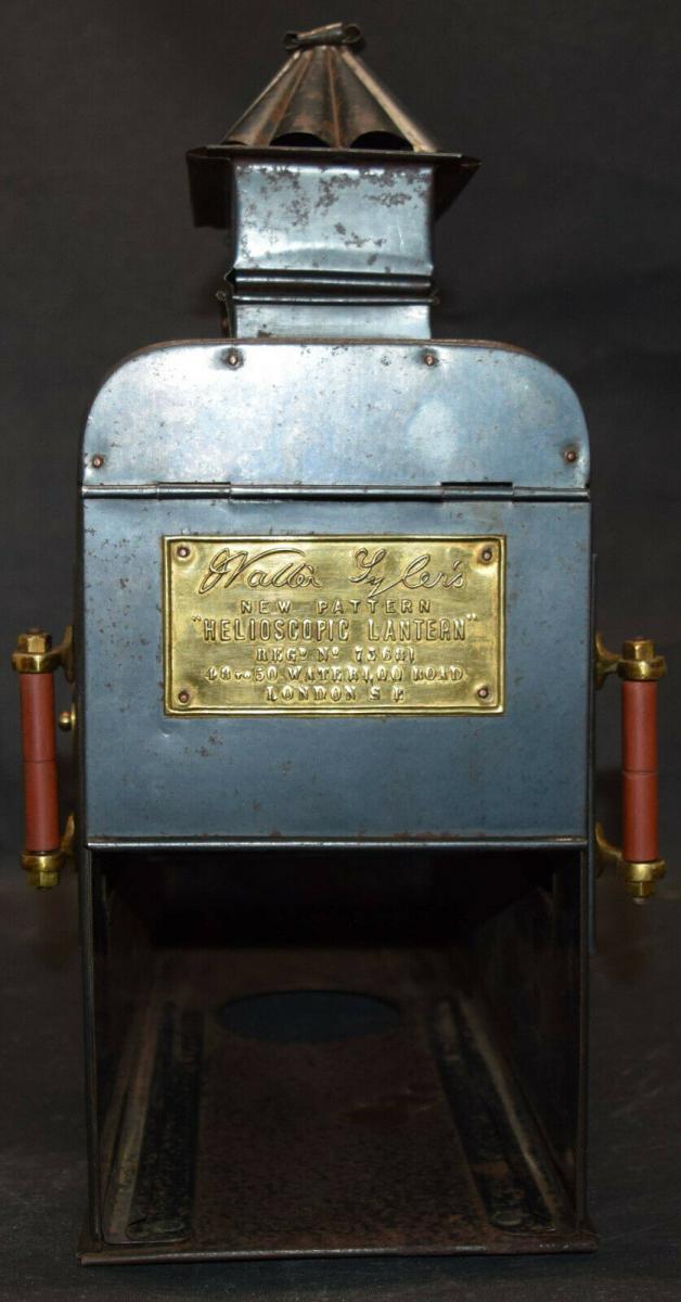 LATERNA MAGICA – HELIOSCOPIC LATERN um 1860 - GLAS-DIAS PROJEKTOR PROJECTOR 6