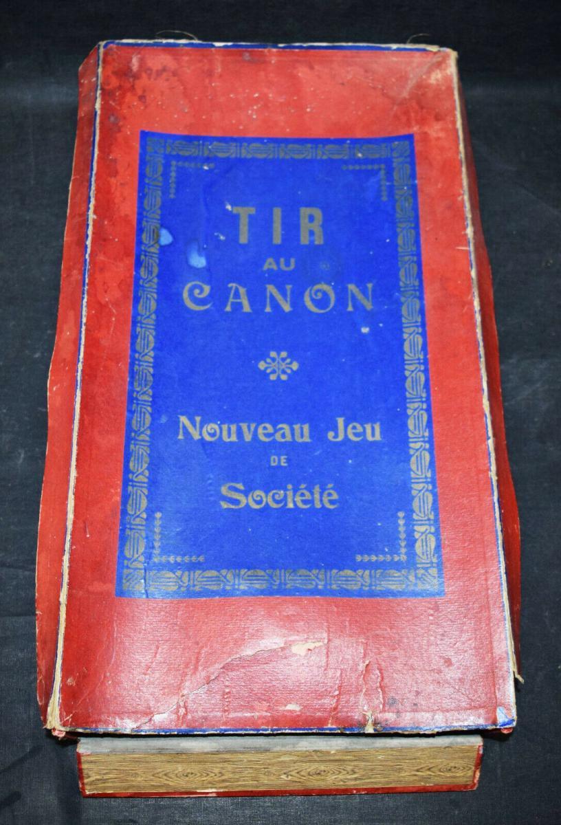 Spiele – Tir au canon - Originelles Billart-Spiel Frankreich um 1895 2