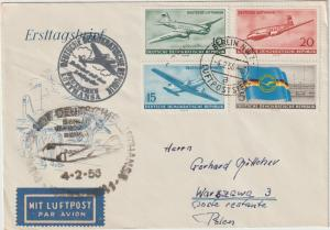 Lufthansa (DDR) Erstflug nach Warschau 4.2.56