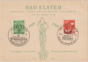 Ereigniskarte 100 Jahre Staatsbad Bad Elster