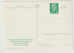 DDR Privatganzsache PP9 (Ansichtskarte Quedlinburg)