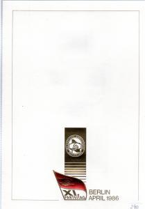 DDR-Gedenkblatt, XI. Parteitag Berlin