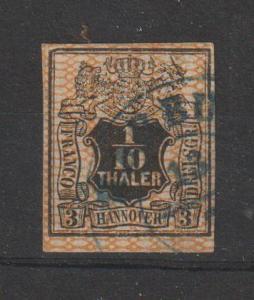 Hannover Nr. 12 mit Plattenfehler I; Befund Berger