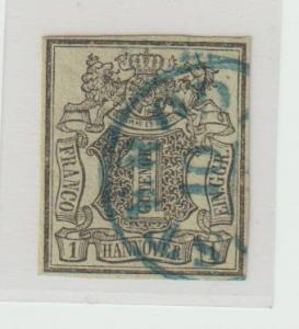 Hannover Nr. 2a mit Plattenfehler IV; Befund Berger