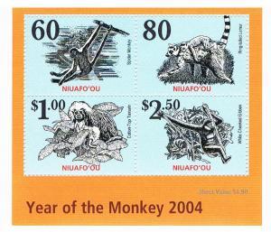 Niuafo´ou  Block zum Jahr des Affen