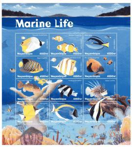 Fische Kleinbogen Mocambique