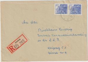 DDR: Einschreibbrief mit 2x Nr. 417