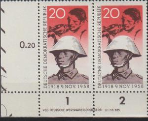 DDR-Druckvermerke:: Novemberrevolution (1958) DV