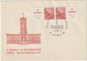 DDR FDC : Debria 1953, Zusammendruck W Zd 23