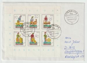 DDR FDC : Kleinbogen Spielzeug 1982 auf kleinform. Umschlag