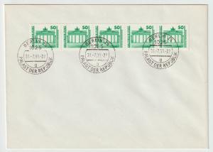 DDR FDC : Rollenmarke Brandenburger Tor 1990