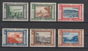 Italien: Zeppelinsatz 1933, sauber entfalzt