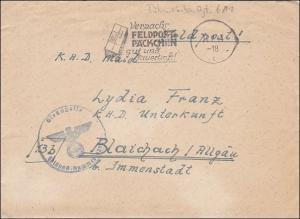 Generalgouvernement (GG) Feldpostbrief mit Werbestempel