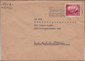 Generalgouvernement (GG) NSDAP Brief mit Werbestempel