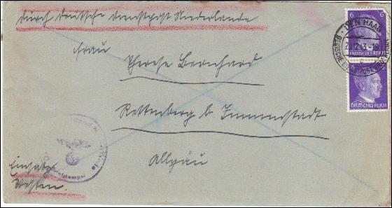 Deutsche Dienstpost Niederlande - Postsache Einsatz Westen - Postschutz 0