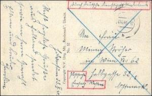 Karte: Deutsche Dienstpost Niederlande - Postsache Einsatz Westen - Postschutz
