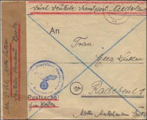 Dienstpost Niederlande - Postsache Einsatz Westen - Postschutz