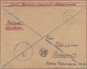 Durch Deutsche Dienstpost NL - Postsache Einsatz Westen - Postschutz