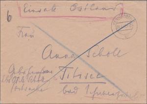 Brief aus der Postschutzschule Heiligenbeil als Postsache Einsatz Ostland