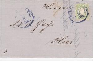 Bayern: Brief von1873: Ortsbrief Würzburg