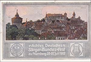 Bayern:  Ganzsache  Sängerbundfest Nürnberg 1912