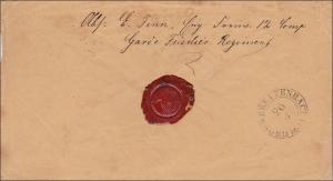 NDP: Brief Feldpost nach Breitenbach - Garde Fisilier Regiment