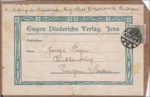Germania: Adressteil von Jena nach Engen 1921, MiNr. 150 EF