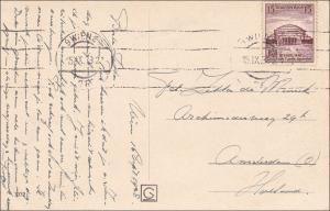 III. Reich: Ansichtskarte von Wien nach Holland 1938, EF MiNr. 668