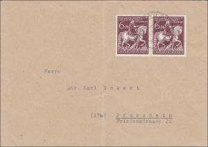 III. Reich: Brief mit schöner MeF vom 31.1.1945 von Passau nach Pforzheim