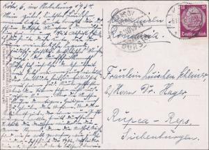 III. Reich: AK von Köln nach Reps-Rupea Siebenbürgen 1934 - Heiliger Franziskus