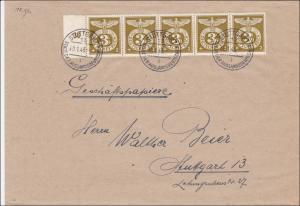 III. Reich: Brief von Stuttgart 1943 - MeF