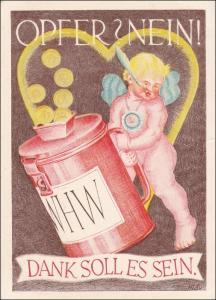 III. Reich: WHW Propaganda Karte 1939 mit Werbestempel Haus der dt. Kunst