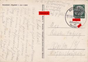 Propaganda Karte: Thüringer Hitler Jugend Leistungsschau Rudolfstadt-Saalfeld 1939
