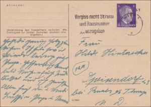 Österreich: Wien 1944 mit Werbestempel auf Ganzsache