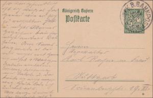 Bahnpost: Ganzsache mit Bahnpost Stempel 1898