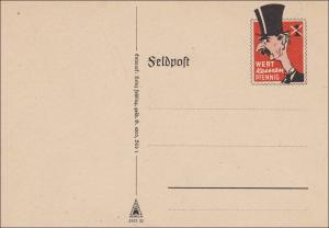 Feldpost II. Weltkrieg:  Feldpost Spott Karte - Blanko