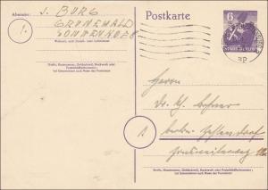 SBZ: Ganzsache von Berlin 1946