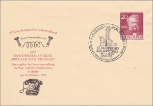 FDC Grosstauschtag - Werner von Siemens 1952