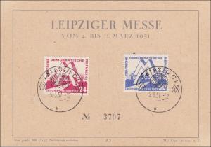 DDR: 1951: Sonderstempel Leipziger Messe