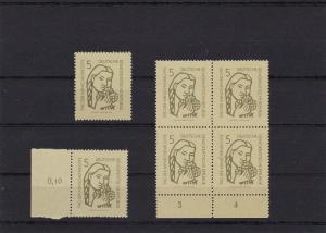 DDR: MiNr. 548 I, II, V, postfrisch
