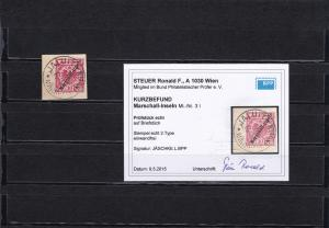 Marschall Inseln: MiNr. 3I, gestempelt auf Briefstück, 2. Type, BPP Befund