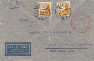 Luftpost Berlin-Sao Paulo-Brasilien 1937, MeF