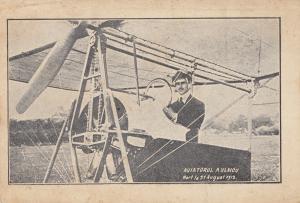 Ansichtskarte Aviatdrul A. Vlaicu, Mort la 31.8.1913 Flugzeug